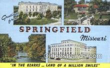 LLT201635 - Springfield, Missouri USA Large Letter Town Vintage Postcard Old Post Card Antique Postales, Cartes, Kartpostal