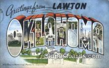 LLT201638 - Oklahoma USA Large Letter Town Vintage Postcard Old Post Card Antique Postales, Cartes, Kartpostal