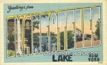LLT201643 - Skanehteles Lake, New York USA Large Letter Town Vintage Postcard Old Post Card Antique Postales, Cartes, Kartpostal