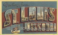 LLT201646 - St Louis, Missouri USA Large Letter Town Vintage Postcard Old Post Card Antique Postales, Cartes, Kartpostal