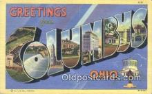 LLT201656 - Columbus, Ohio USA Large Letter Town Vintage Postcard Old Post Card Antique Postales, Cartes, Kartpostal