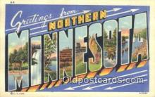 LLT201657 - Minnesota USA Large Letter Town Vintage Postcard Old Post Card Antique Postales, Cartes, Kartpostal