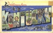 LLT201661 - Kentucky USA Large Letter Town Vintage Postcard Old Post Card Antique Postales, Cartes, Kartpostal