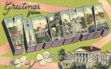 LLT201664 - Virginia USA Large Letter Town Vintage Postcard Old Post Card Antique Postales, Cartes, Kartpostal