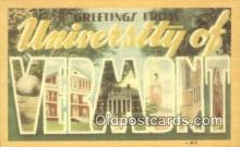 LLT201665 - Vermont USA Large Letter Town Vintage Postcard Old Post Card Antique Postales, Cartes, Kartpostal