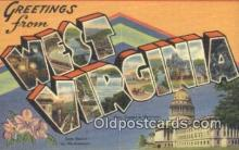 LLT201667 - West Virginia USA Large Letter Town Vintage Postcard Old Post Card Antique Postales, Cartes, Kartpostal