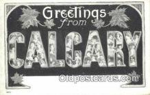 LLT201672 - Calgary USA Large Letter Town Vintage Postcard Old Post Card Antique Postales, Cartes, Kartpostal