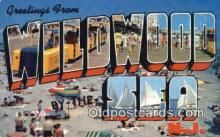 LLT201682 - Wildwood by the Sea, NJ USA Large Letter Town Vintage Postcard Old Post Card Antique Postales, Cartes, Kartpostal