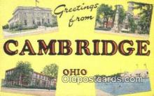 LLT201683 - Cambridge, Ohio USA Large Letter Town Vintage Postcard Old Post Card Antique Postales, Cartes, Kartpostal