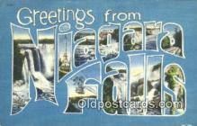LLT201685 - Niagara Falls USA Large Letter Town Vintage Postcard Old Post Card Antique Postales, Cartes, Kartpostal