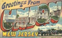 LLT201687 - Union, New Jersey USA Large Letter Town Vintage Postcard Old Post Card Antique Postales, Cartes, Kartpostal