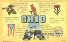 LLT201696 - Ohio USA Large Letter Town Vintage Postcard Old Post Card Antique Postales, Cartes, Kartpostal
