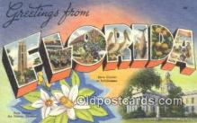LLT201700 - Florida USA Large Letter Town Vintage Postcard Old Post Card Antique Postales, Cartes, Kartpostal
