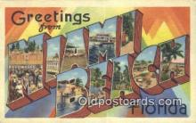LLT201704 - Miami Beach, Florida USA Large Letter Town Vintage Postcard Old Post Card Antique Postales, Cartes, Kartpostal