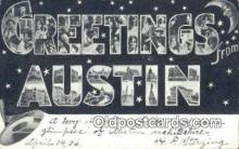 LLT201731 - Austin, Texas USA Large Letter Town Vintage Postcard Old Post Card Antique Postales, Cartes, Kartpostal