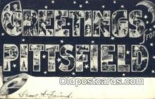 LLT201737 - Pittsfield USA Large Letter Town Vintage Postcard Old Post Card Antique Postales, Cartes, Kartpostal