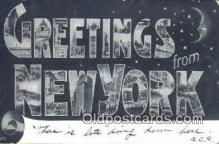 LLT201743 - New York USA Large Letter Town Vintage Postcard Old Post Card Antique Postales, Cartes, Kartpostal