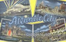 LLT201748 - Atlantic City USA Large Letter Town Vintage Postcard Old Post Card Antique Postales, Cartes, Kartpostal