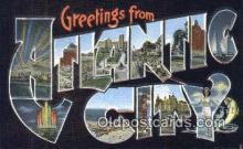LLT201752 - Atlantic City USA Large Letter Town Vintage Postcard Old Post Card Antique Postales, Cartes, Kartpostal