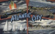 LLT201753 - Atlantic City USA Large Letter Town Vintage Postcard Old Post Card Antique Postales, Cartes, Kartpostal