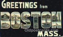 LLT201758 - Boston, Mass USA Large Letter Town Vintage Postcard Old Post Card Antique Postales, Cartes, Kartpostal