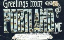 LLT201760 - Portland, ME USA Large Letter Town Vintage Postcard Old Post Card Antique Postales, Cartes, Kartpostal