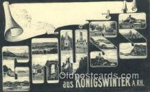 LLT201765 - Konigswinter A RH USA Large Letter Town Vintage Postcard Old Post Card Antique Postales, Cartes, Kartpostal
