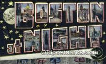 LLT201768 - Boston, Mass USA Large Letter Town Vintage Postcard Old Post Card Antique Postales, Cartes, Kartpostal