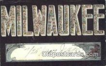 LLT201771 - Milwaukee, Wisconsin USA Large Letter Town Vintage Postcard Old Post Card Antique Postales, Cartes, Kartpostal