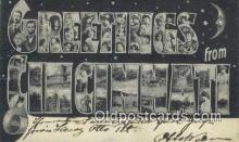 LLT201772 - Cincinnati, Ohio USA Large Letter Town Vintage Postcard Old Post Card Antique Postales, Cartes, Kartpostal