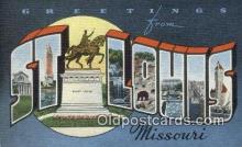 LLT201783 - St Louis, Missouri USA Large Letter Town Vintage Postcard Old Post Card Antique Postales, Cartes, Kartpostal