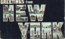 LLT201786 - New York USA Large Letter Town Vintage Postcard Old Post Card Antique Postales, Cartes, Kartpostal
