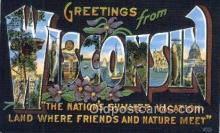 LLT201787 - Wisconsin USA Large Letter Town Vintage Postcard Old Post Card Antique Postales, Cartes, Kartpostal