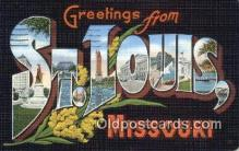 LLT201791 - St Louis, Missouri USA Large Letter Town Vintage Postcard Old Post Card Antique Postales, Cartes, Kartpostal