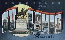 LLT201794 - St Louis, Missouri USA Large Letter Town Vintage Postcard Old Post Card Antique Postales, Cartes, Kartpostal