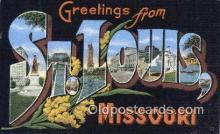 LLT201795 - St Louis, Missouri USA Large Letter Town Vintage Postcard Old Post Card Antique Postales, Cartes, Kartpostal