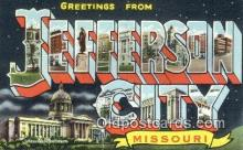 LLT201796 - Jefferson City, Missouri USA Large Letter Town Vintage Postcard Old Post Card Antique Postales, Cartes, Kartpostal