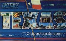 LLT201797 - Texas USA Large Letter Town Vintage Postcard Old Post Card Antique Postales, Cartes, Kartpostal