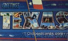 LLT201798 - Texas USA Large Letter Town Vintage Postcard Old Post Card Antique Postales, Cartes, Kartpostal