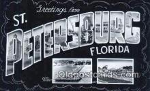 LLT201803 - St Petersburg, Florida USA Large Letter Town Vintage Postcard Old Post Card Antique Postales, Cartes, Kartpostal