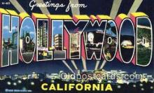 LLT201805 - Hollywood, California USA Large Letter Town Vintage Postcard Old Post Card Antique Postales, Cartes, Kartpostal