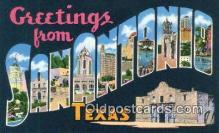 LLT201807 - San Antonio, Texas USA Large Letter Town Vintage Postcard Old Post Card Antique Postales, Cartes, Kartpostal