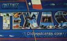 LLT201812 - Texas USA Large Letter Town Vintage Postcard Old Post Card Antique Postales, Cartes, Kartpostal