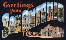 LLT201814 - San Antonio, Texas USA Large Letter Town Vintage Postcard Old Post Card Antique Postales, Cartes, Kartpostal