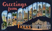 LLT201815 - San Antonio, Texas USA Large Letter Town Vintage Postcard Old Post Card Antique Postales, Cartes, Kartpostal