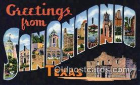 LLT201816 - San Antonio, Texas USA Large Letter Town Vintage Postcard Old Post Card Antique Postales, Cartes, Kartpostal