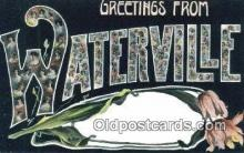 LLT201822 - Waterville USA Large Letter Town Vintage Postcard Old Post Card Antique Postales, Cartes, Kartpostal