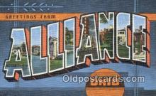 LLT201829 - Alliance, Ohio USA Large Letter Town Vintage Postcard Old Post Card Antique Postales, Cartes, Kartpostal