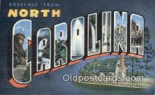 LLT201830 - North Carolina USA Large Letter Town Vintage Postcard Old Post Card Antique Postales, Cartes, Kartpostal