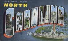 LLT201831 - North Carolina USA Large Letter Town Vintage Postcard Old Post Card Antique Postales, Cartes, Kartpostal
